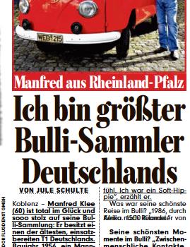 Manfred in der BILD – Klarstellung!