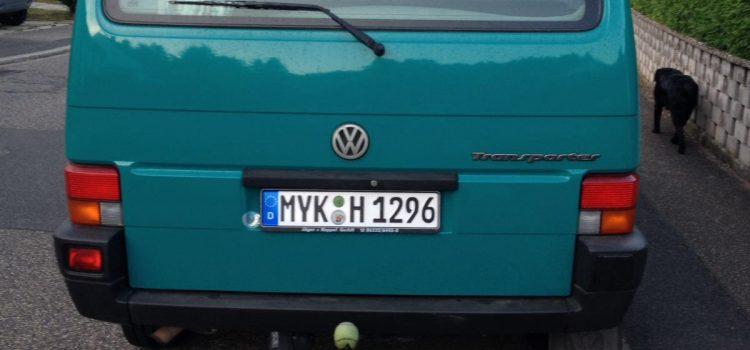"""Erster T4 mit """"H""""-Kennzeichen"""