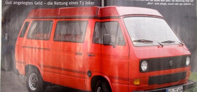 VW Scene 2014: Rettung eines T3 Joker